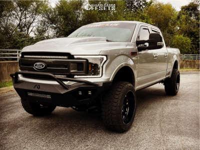 "2018 Ford F-150 - 22x12 -44mm - Fuel Vortex - Suspension Lift 6"" - 35"" x 12.5"""