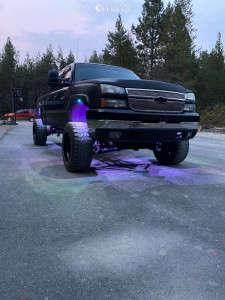 """2006 Chevrolet Silverado 2500 HD - 20x12 -44mm - TIS 552b - Suspension Lift 6"""" - 295/65R20"""