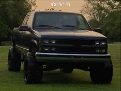 "1996 Chevrolet C1500 - 20x12 -44mm - Fuel Stroke - Suspension Lift 6"" & Body 3"" - 375/45R20"