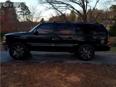 """2002 Chevrolet Suburban - 20x10 -24mm - Tuff T13 - Leveling Kit - 33"""" x 12.5"""""""