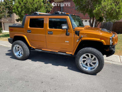 """2006 HUMMER H2 - 22x12 -40mm - American Force Blade Ss8 - Suspension Lift 3"""" - 37"""" x 13.5"""""""