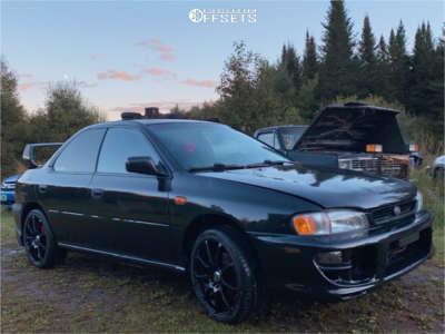 1995 Subaru Impreza - 17x7 45mm - Enkei Edr9 - Stock Suspension - 215/40R17
