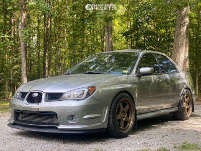 2007 Subaru Impreza - 18x9 35mm - Kansei Knp - Coilovers - 245/45R18