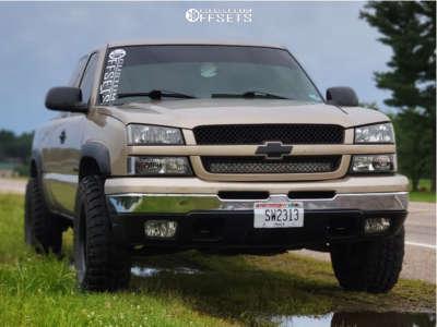"2004 Chevrolet Silverado 1500 - 17x8 -6mm - Pro Comp Series 51 - Stock Suspension - 33"" x 12.5"""