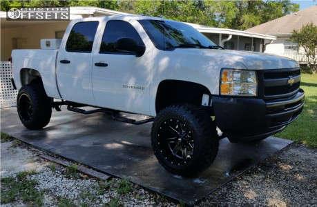 "2010 Chevrolet Silverado 1500 - 20x12 -44mm - Ballistic Rage - Suspension Lift 7.5"" - 35"" x 12.5"""