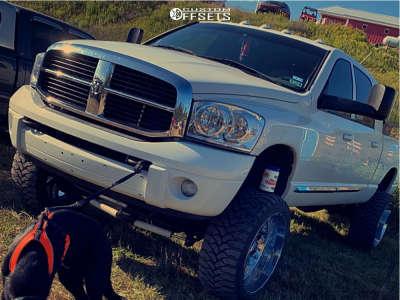 """2007 Dodge Ram 2500 - 24x12 -44mm - TIS 544c - Suspension Lift 5"""" - 35"""" x 12.5"""""""