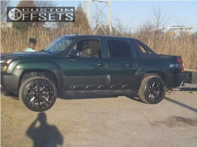 2002 Chevrolet Avalanche - 22x12 -44mm - Gear Off-Road Big Block - Leveling Kit - 305/45R22