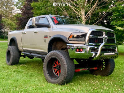 "2010 Dodge Ram 2500 - 22x14 -76mm - American Force Evo Ss8 - Suspension Lift 7.5"" & Body 3"" - 40"" x 15.5"""