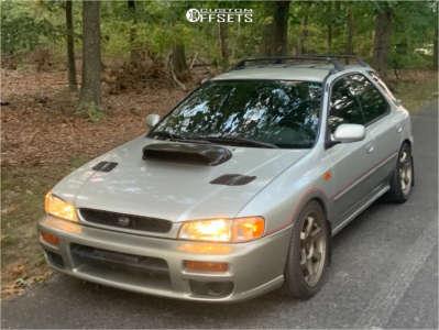 2000 Subaru Impreza - 17x8 35mm - AVID1 Av6 - Coilovers - 235/40R17