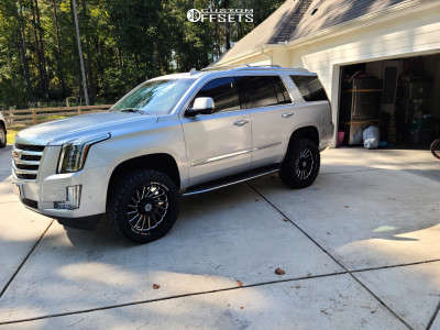 "2017 Cadillac Escalade - 22x10 -19mm - Scorpion Saw - Suspension Lift 3.5"" - 33"" x 12.5"""
