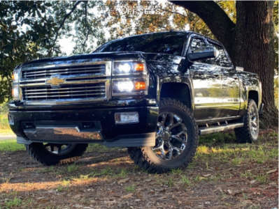 """2014 Chevrolet Silverado 1500 - 20x9 31mm - OE Replicas Flakes - Leveling Kit - 35"""" x 12.5"""""""