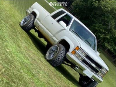 """1998 Chevrolet K2500 - 22x14 76mm - TIS 544c - Leveling Kit - 33"""" x 12.5"""""""
