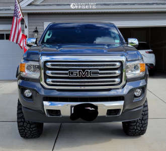 """2016 GMC Canyon - 18x9 1mm - Fuel Hostage - Suspension Lift 6"""" - 33"""" x 11.5"""""""