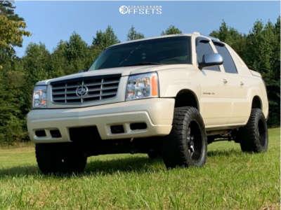 """2002 Cadillac Escalade EXT - 20x12 -44mm - Moto Metal Mo970 - Suspension Lift 6"""" - 35"""" x 12.5"""""""