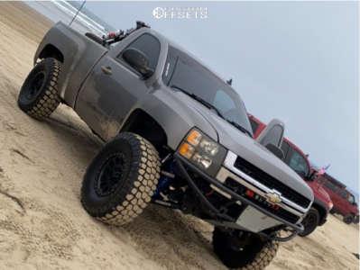 "2013 Chevrolet Silverado 1500 - 17x8.5 0mm - Method Nv - Suspension Lift 3.5"" - 37"" x 12.5"""