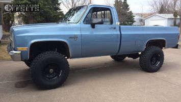 "1982 Chevrolet K20 - 16x10 -38mm - Black Rock D Widow - Suspension Lift 6"" - 35"" x 12.5"""