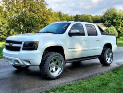 "2010 Chevrolet Avalanche - 22x12 -44mm - Tuff T1a - Suspension Lift 4.5"" - 33"" x 12.5"""
