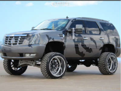 """2009 Cadillac Escalade - 24x14 -76mm - Specialty Forged Sf023 - Suspension Lift 9"""" - 35"""" x 13.5"""""""