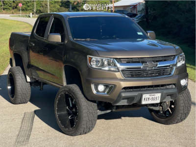 "2017 Chevrolet Colorado - 22x12 -57mm - Vision Spyder - Suspension Lift 6"" - 33"" x 12.5"""