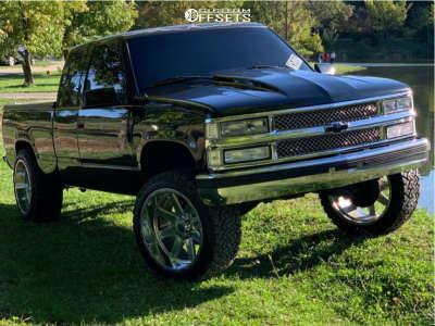 "1996 Chevrolet C1500 - 22x12 -44mm - TIS 551p - Suspension Lift 6"" - 33"" x 12.5"""