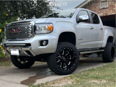 """2018 GMC Canyon - 20x12 -44mm - American Offroad A106 - Suspension Lift 6"""" - 33"""" x 12.5"""""""