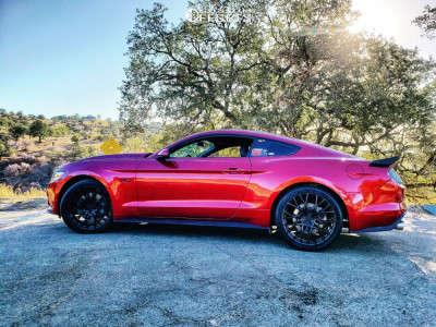 2015 Ford Mustang - 20x8.5 30mm - TSW Sebring - Stock Suspension - 265/35R20