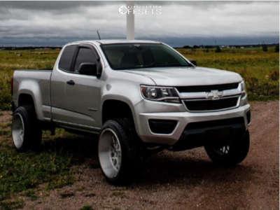 "2015 Chevrolet Colorado - 22x12 -44mm - XF Flow Xfx-307 - Suspension Lift 6.5"" - 285/45R22"