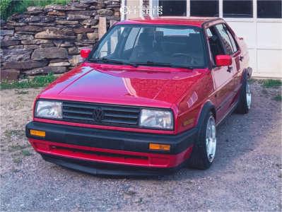 1990 Volkswagen Jetta - 15x8 20mm - Whistler Kr7 - Coilovers - 195/45R15