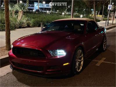 2013 Ford Mustang - 19x9.5 35mm - Niche Targa - Lowering Springs - 265/35R19