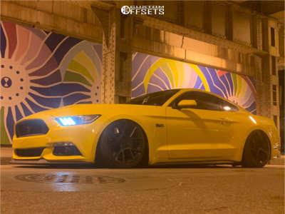 2016 Ford Mustang - 19x8.5 35mm - Rotiform Kps - Air Suspension - 255/35R19