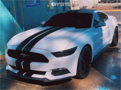 2016 Ford Mustang - 19x9.5 35mm - AVID1 Av20 - Stock Suspension - 255/40R19
