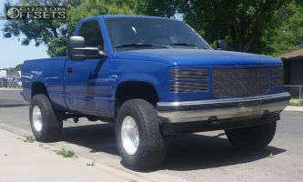 "1992 Chevrolet K1500 - 16x12 -44mm - Weld Racing Super Single - Leveling Kit & Body Lift - 32"" x 12.5"""