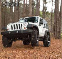 "2010 Jeep Wrangler - 18x9 -12mm - XD Spy - Suspension Lift 4"" - 35"" x 12.5"""