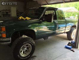 """1996 Chevrolet K1500 - 16x10 -38mm - Alloy Ion Style 171 - Suspension Lift 4"""" - 285/75R16"""
