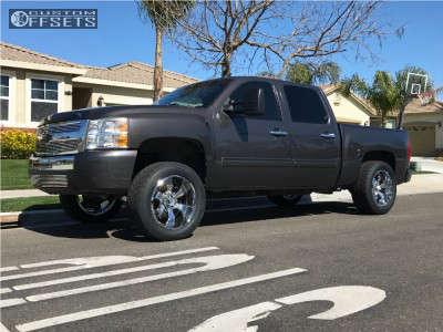 "2011 Chevrolet Silverado 1500 - 20x10 -19mm - Hostile Hammered - Suspension Lift 3.5"" - 305/50R20"