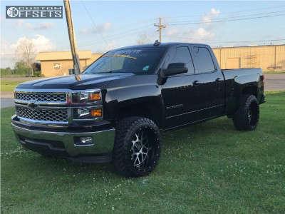 "2015 Chevrolet Silverado 1500 - 22x12 -44mm - XD Xd820 - Leveling Kit - 33"" x 12.5"""