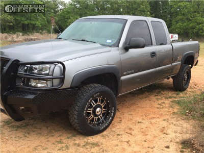 2006 Chevrolet Silverado 2500 HD - 17x8 10mm - Alloy Ion 186 - Stock Suspension - 265/70R17