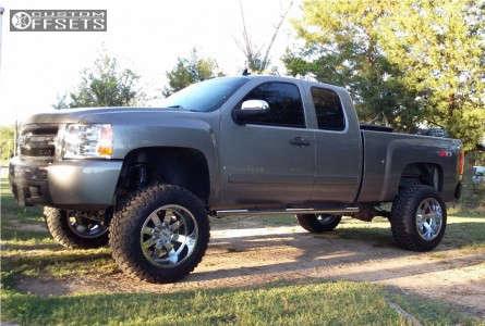 "2007 Chevrolet Silverado 1500 - 20x12 -44mm - Moto Metal MO962 - Suspension Lift 7.5"" - 35"" x 12.5"""