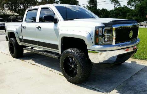"2014 Chevrolet Silverado 1500 - 20x12 -44mm - Cali Offroad Twisted - Suspension Lift 7.5"" - 35"" x 12.5"""