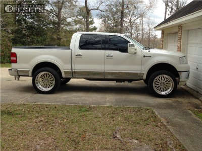 2006 Lincoln Mark LT - 22x12 -40mm - American Force Evo Ss - Leveling Kit - 305/45R22