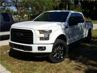 2016 Ford F-150 - 22x10 -18mm - Fuel Flow - Leveling Kit - 305/45R22