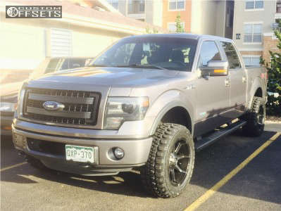 """2013 Ford F-150 - 20x10 -24mm - Fuel Coupler - Leveling Kit - 33"""" x 12.5"""""""