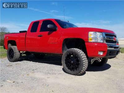 "2009 Chevrolet Silverado 1500 - 20x10 -25mm - Mayhem Warrior - Suspension Lift 7"" - 33"" x 12.5"""