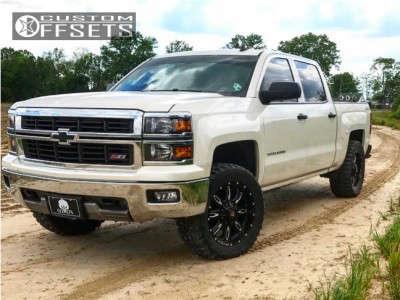 """2014 Chevrolet Silverado 1500 - 20x9 -12mm - Ballistic Scythe - Leveling Kit - 33"""" x 12.5"""""""