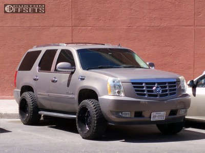 2010 Cadillac Escalade - 20x12 -44mm - Onyx P92 - Leveling Kit - 285/50R20