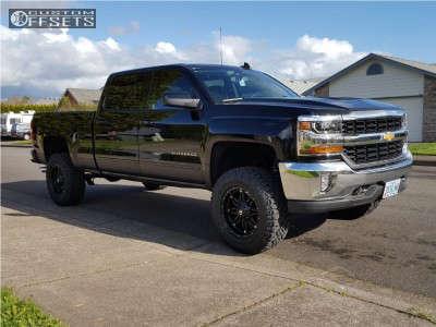 """2017 Chevrolet Silverado 1500 - 18x9 1mm - Fuel 531 - Suspension Lift 4.5"""" - 295/65R18"""