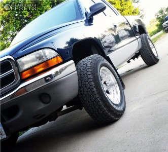 "2001 Dodge Dakota - 15x8 -14.2999mm - Alloy Ion Style 171 - Stock Suspension - 29"" x 9.5"""