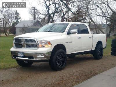 2009 Dodge Ram 1500 - 20x10 -25mm - Cali Offroad Americana - Leveling Kit & Body Lift - 285/55R20