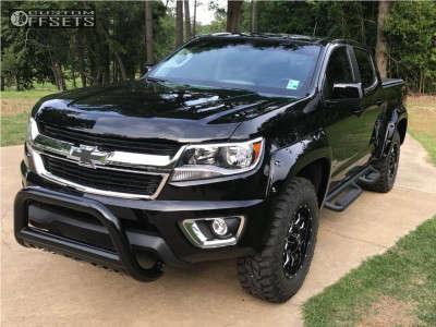 2016 Chevrolet Colorado - 18x9 18mm - Mayhem Warrior - Leveling Kit - 275/70R18