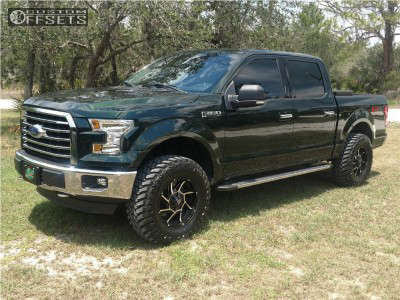 """2016 Ford F-150 - 18x9 -12mm - Vision Prowler - Leveling Kit - 35"""" x 12.5"""""""